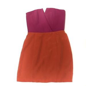 Naven Bombshell Strapless Colorblock Dress